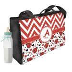 Ladybugs & Chevron Diaper Bag (Personalized)