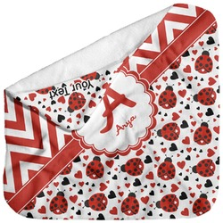 Ladybugs & Chevron Baby Hooded Towel (Personalized)