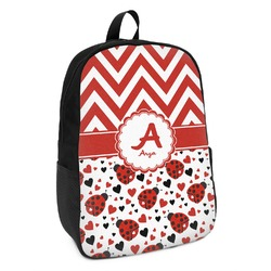 Ladybugs & Chevron Kids Backpack (Personalized)