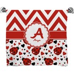 Ladybugs & Chevron Full Print Bath Towel (Personalized)