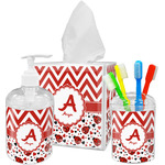 Ladybugs & Chevron Bathroom Accessories Set (Personalized)
