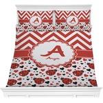 Ladybugs & Chevron Comforters (Personalized)