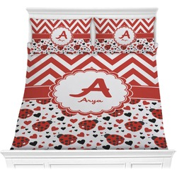 Ladybugs & Chevron Comforter Set (Personalized)