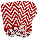 Ladybugs & Chevron Burp Cloth (Personalized)