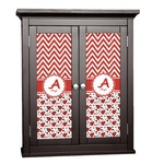 Ladybugs & Chevron Cabinet Decal - Custom Size (Personalized)