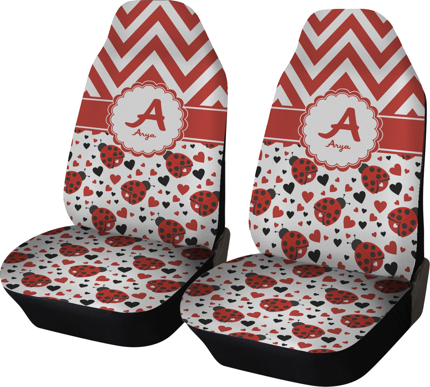 Ladybugs Amp Chevron Car Seat Covers Set Of Two