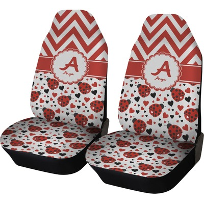 Ladybugs & Chevron Car Seat Covers (Set of Two) (Personalized)
