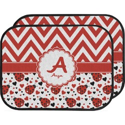 Ladybugs & Chevron Car Floor Mats (Back Seat) (Personalized)