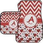 Ladybugs & Chevron Car Floor Mats (Personalized)