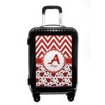 Ladybugs & Chevron Carry On Hard Shell Suitcase (Personalized)