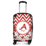 Ladybugs & Chevron Suitcase (Personalized)