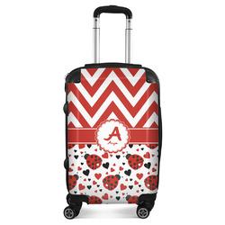"""Ladybugs & Chevron Suitcase - 20"""" Carry On (Personalized)"""
