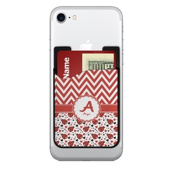 Ladybugs & Chevron Cell Phone Credit Card Holder (Personalized)