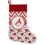 Ladybugs & Chevron Holiday / Christmas Stocking (Personalized)