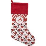 Ladybugs & Chevron Christmas Stocking (Personalized)