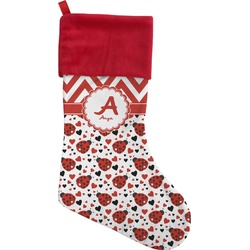 Ladybugs & Chevron Christmas Stocking (Personalized)