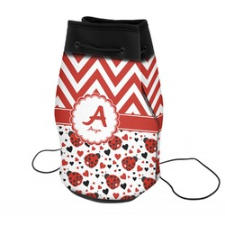 Ladybugs & Chevron Neoprene Drawstring Backpack (Personalized)