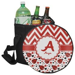 Ladybugs & Chevron Collapsible Cooler & Seat (Personalized)