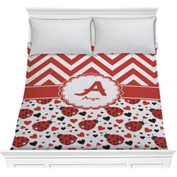 Ladybugs & Chevron Comforter (Personalized)