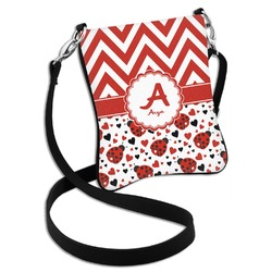 Ladybugs & Chevron Cross Body Bag - 2 Sizes (Personalized)