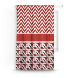 Ladybugs & Chevron Curtain (Personalized)