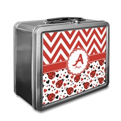 Ladybugs & Chevron Lunch Box (Personalized)