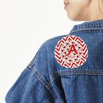 Ladybugs & Chevron Large Custom Shape Patch (Personalized)