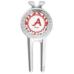Ladybugs & Chevron Golf Divot Tool & Ball Marker (Personalized)