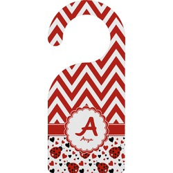 Ladybugs & Chevron Door Hanger (Personalized)