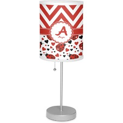 "Ladybugs & Chevron 7"" Drum Lamp with Shade (Personalized)"