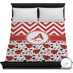 Ladybugs & Chevron Duvet Cover (Personalized)