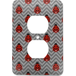 Ladybugs & Chevron Electric Outlet Plate (Personalized)