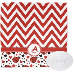 Ladybugs & Chevron Wash Cloth (Personalized)