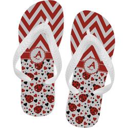 Ladybugs & Chevron Flip Flops (Personalized)
