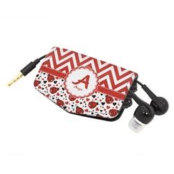 Ladybugs & Chevron Genuine Leather Cord Wrap (Personalized)