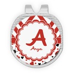 Ladybugs & Chevron Golf Ball Marker - Hat Clip