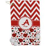 Ladybugs & Chevron Golf Towel - Full Print (Personalized)