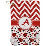 Ladybugs & Chevron Golf Towel - Full Print (Personalized)