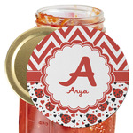 Ladybugs & Chevron Jar Opener (Personalized)