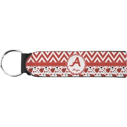 Ladybugs & Chevron Keychain Fob (Personalized)