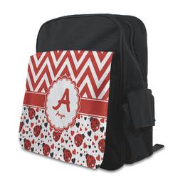 Ladybugs & Chevron Preschool Backpack (Personalized)