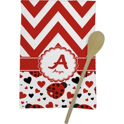 Ladybugs & Chevron Kitchen Towel - Full Print (Personalized)