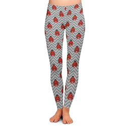 Ladybugs & Chevron Ladies Leggings (Personalized)