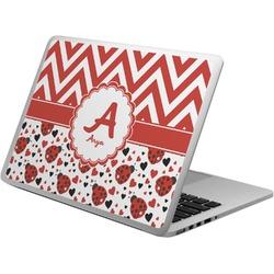 Ladybugs & Chevron Laptop Skin - Custom Sized (Personalized)