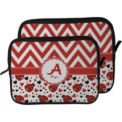 Ladybugs & Chevron Laptop Sleeve / Case (Personalized)