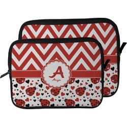 Ladybugs & Chevron Laptop Sleeve / Case (Personalized)