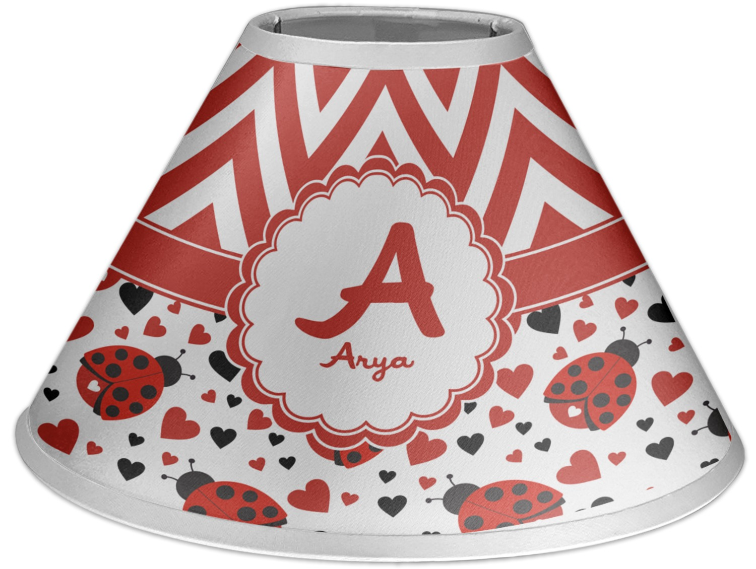 Ladybugs chevron coolie lamp shade personalized youcustomizeit ladybugs chevron coolie lamp shade personalized mozeypictures Gallery