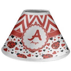 Ladybugs & Chevron Coolie Lamp Shade (Personalized)