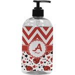 Ladybugs & Chevron Plastic Soap / Lotion Dispenser (Personalized)