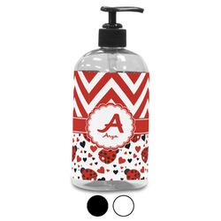 Ladybugs & Chevron Plastic Soap / Lotion Dispenser (Personalized)